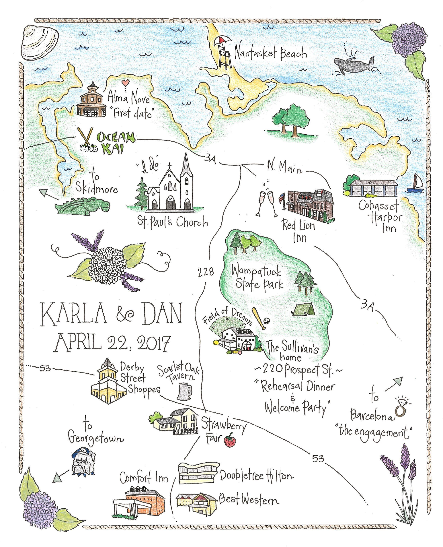 Custom Wedding Map By Elizajstudio On Etsy S