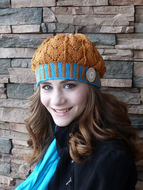 The Mary  Anne Hat, found on ravelry.com, a cute snazzy hat pattern attractive on any age!