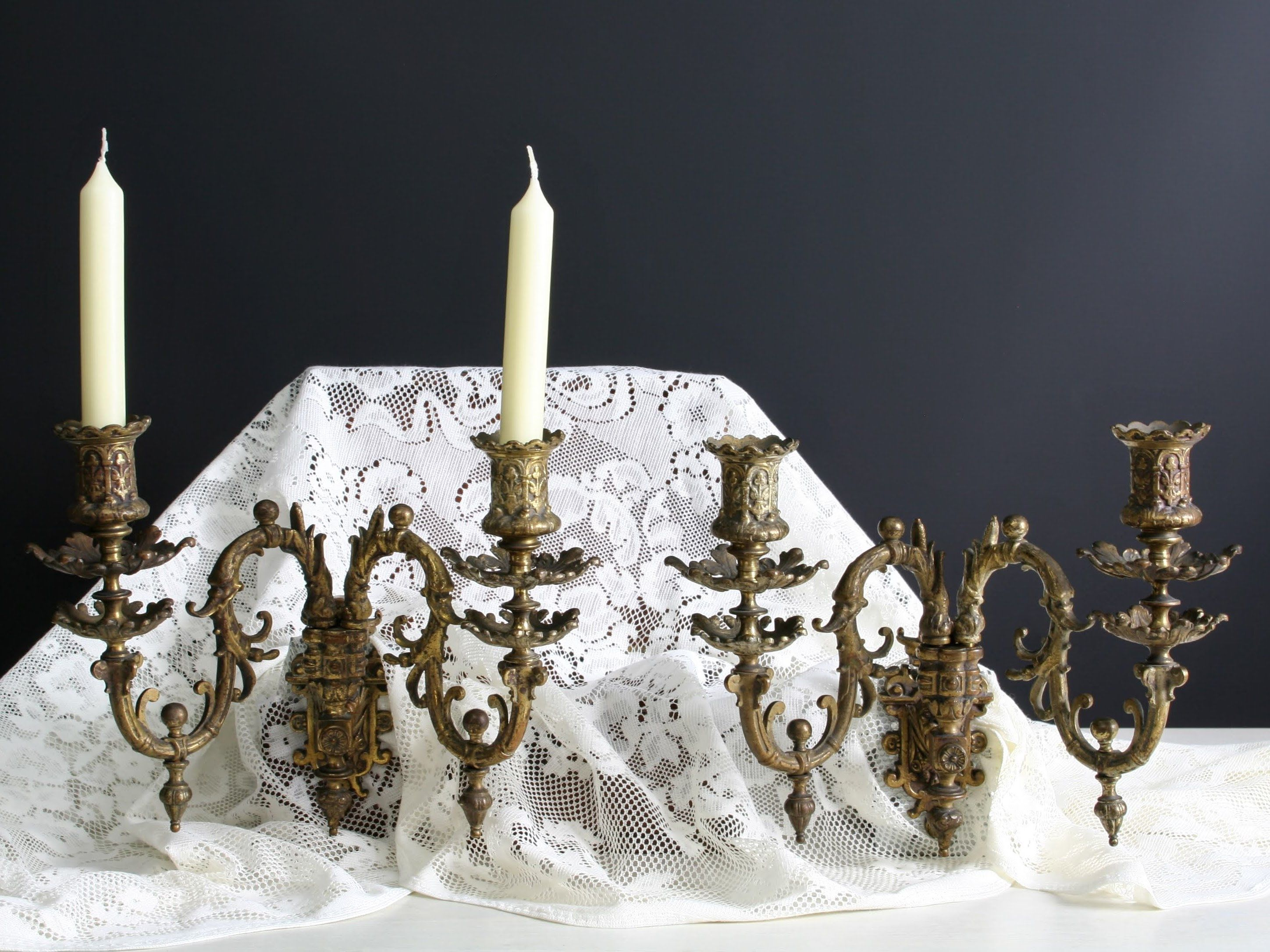 French Antique-Candle Wall Sconce-Turn Of the Century-Wall ... on Vintage Wall Sconce Candle Holder Decorating Ideas id=80074