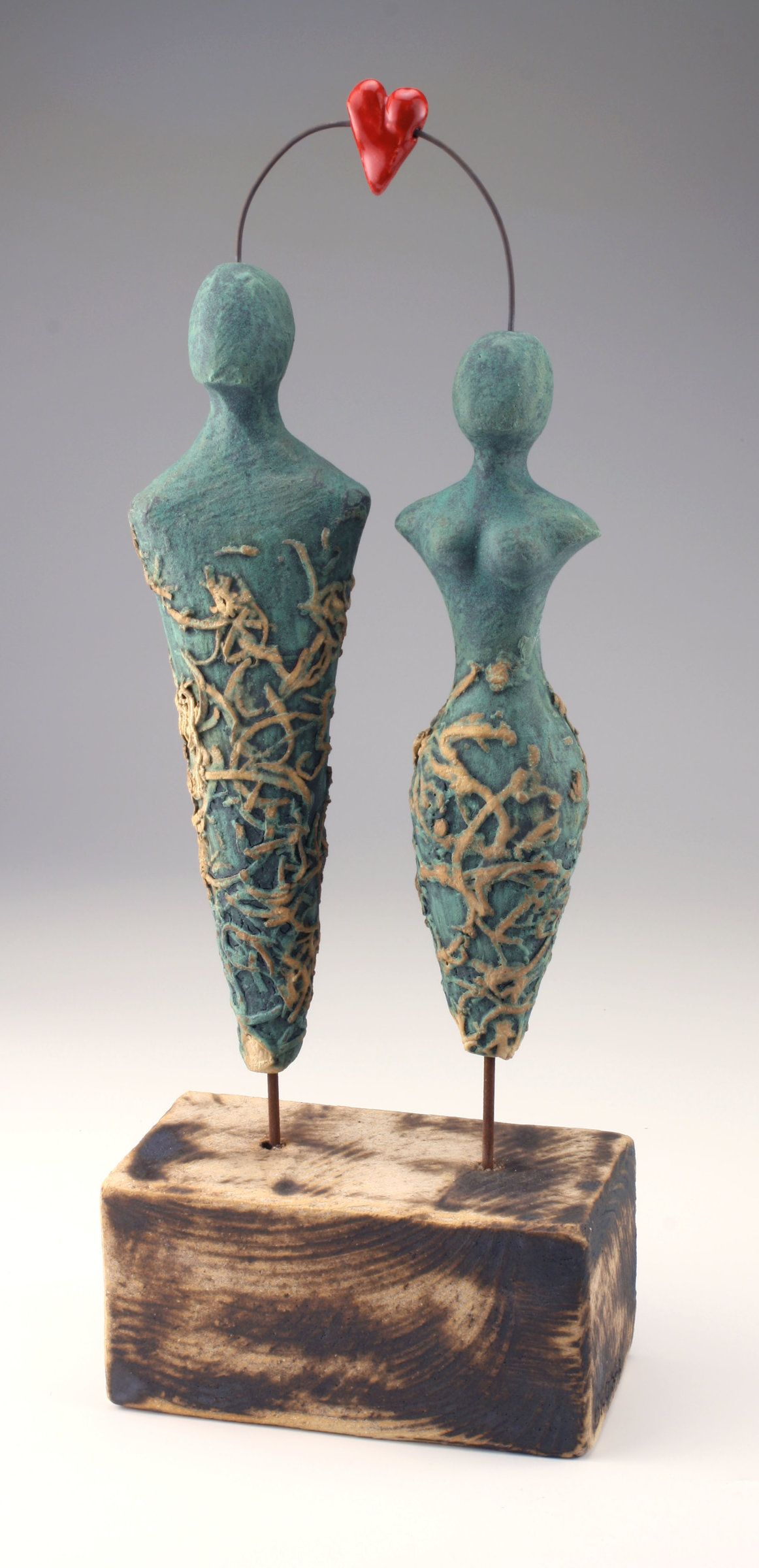One Love by Cathy Broski (Ceramic Sculpture | Handmade copper and ...