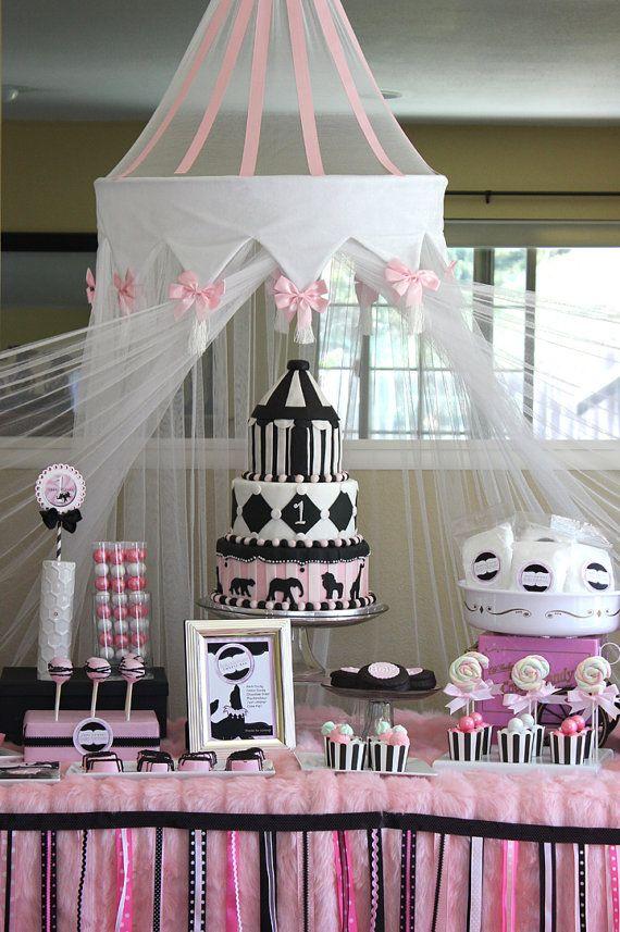Nice Girly Circus Garland Hello Kitty Party By Atozebracelebrations, $50.99.  Elephant Baby ShowersGirl ...