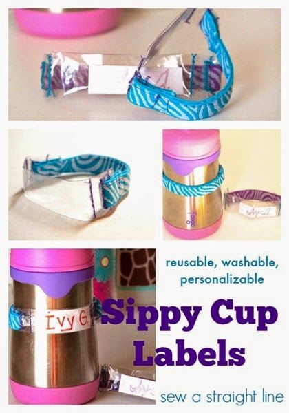 Diy Sippy Cup Labels Sew A Straight Line Interesting
