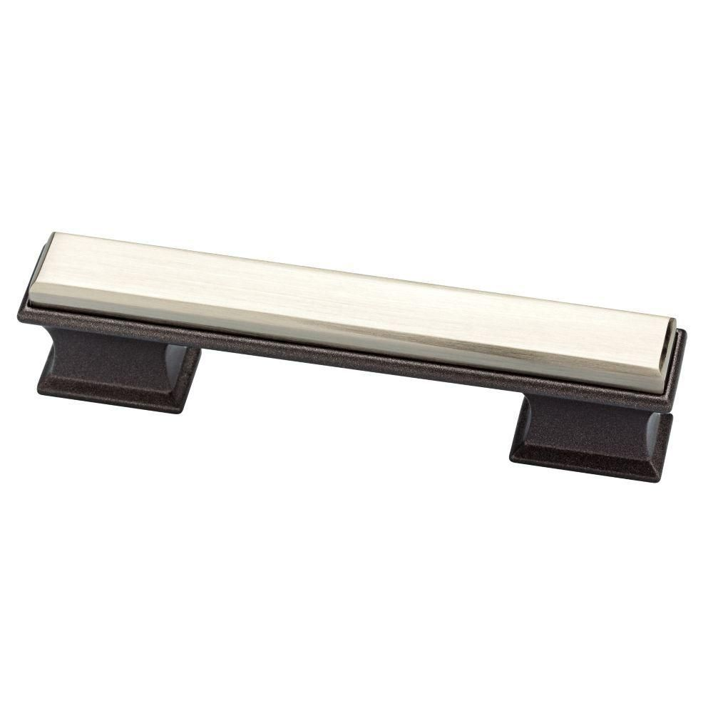 Liberty Cabinet Knobs Liberty Luxe 1 2 5 In Square Satin Nickel And Cocoa Bronze Dual