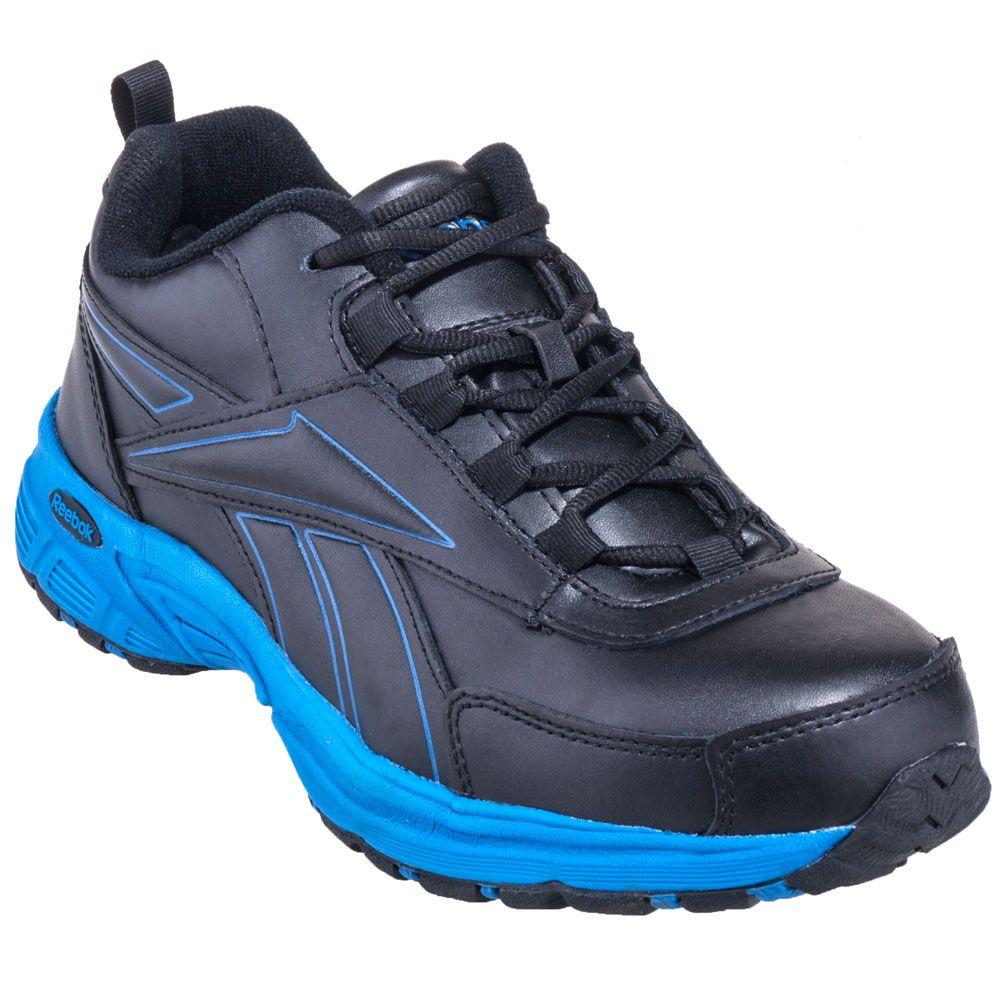 Reebok Shoes  Men s RB4830 Steel Toe Black Blue EH Athletic Work ... cccd0211dff