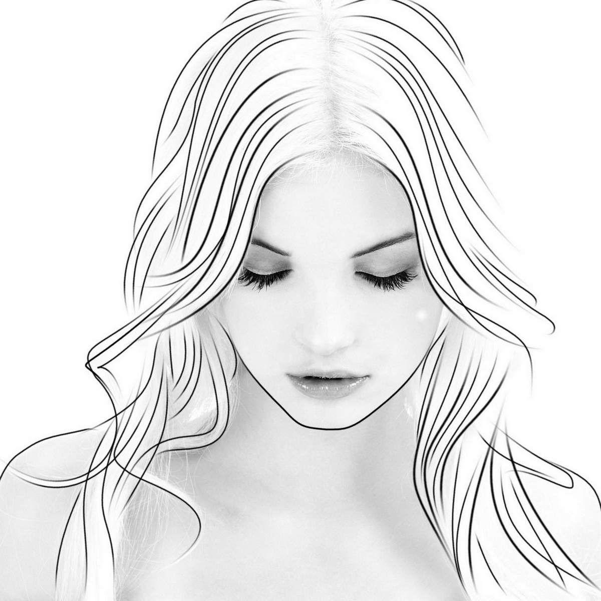Dessin Femme Caligraphie Dessin Pinterest Zeichnen Et Malen