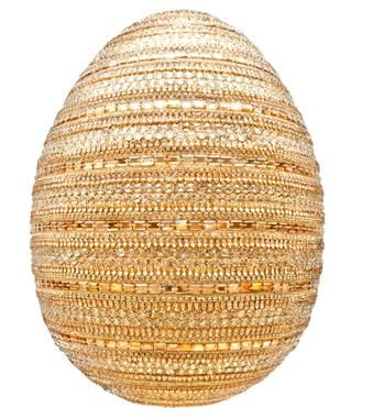 'Untitled', 2014  :  Naeem Khan.  Crystals, fabric, fibreglass 2014 Faberge Big Egg Hunt - Rockefeller Center