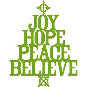 Download 'joy hope peace believe' christmas tree | Christmas words ...
