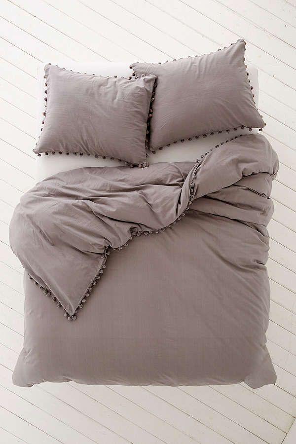 Magical Thinking Pom Fringe Duvet Cover Home Grey Duvet Duvet Covers Urban Outfitters