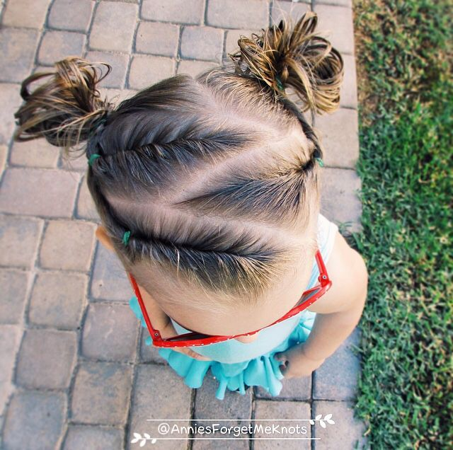 Zigzag Hair Pattern For Kids Kids Hairstyles Hair Styles Baby Hairstyles