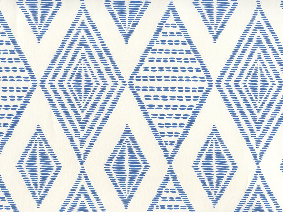 Quadrille Safari Embroidery Wallpaper Royal Blue On Almost White Ap850 13 Safari Design Pattern Wallpaper Wallpaper