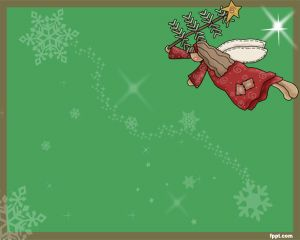 Christmas Angel Is A Seasonal Powerpoint Template That You Can Use