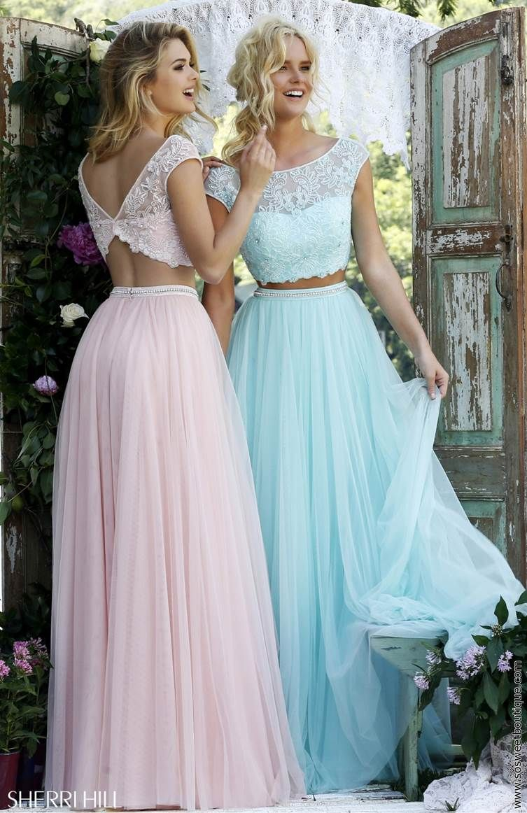 Sherri Hill 50038 Blush Two Piece Princess Prom Dress