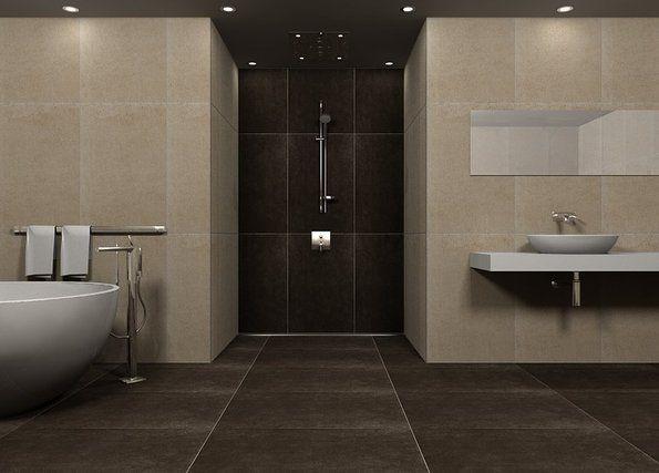 Badezimmer Fliesen Braun Architektur