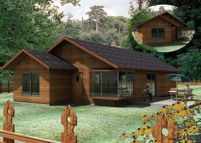 Casur casas prefabricadas modelo montreal mi for Casas de campo prefabricadas