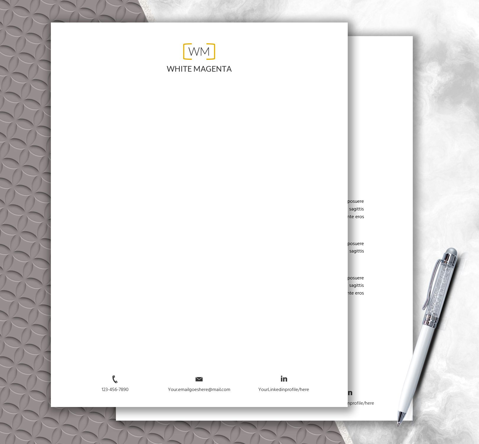 Download Stationery Paper + Monogram Design | Personal Letterhead ...