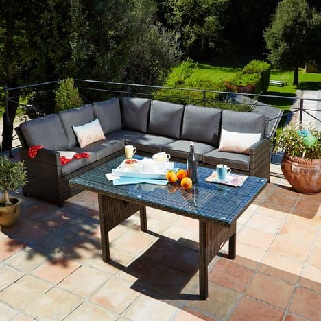 ALINEA Dinning Salon de jardin avec table de repas pas cher prix ...
