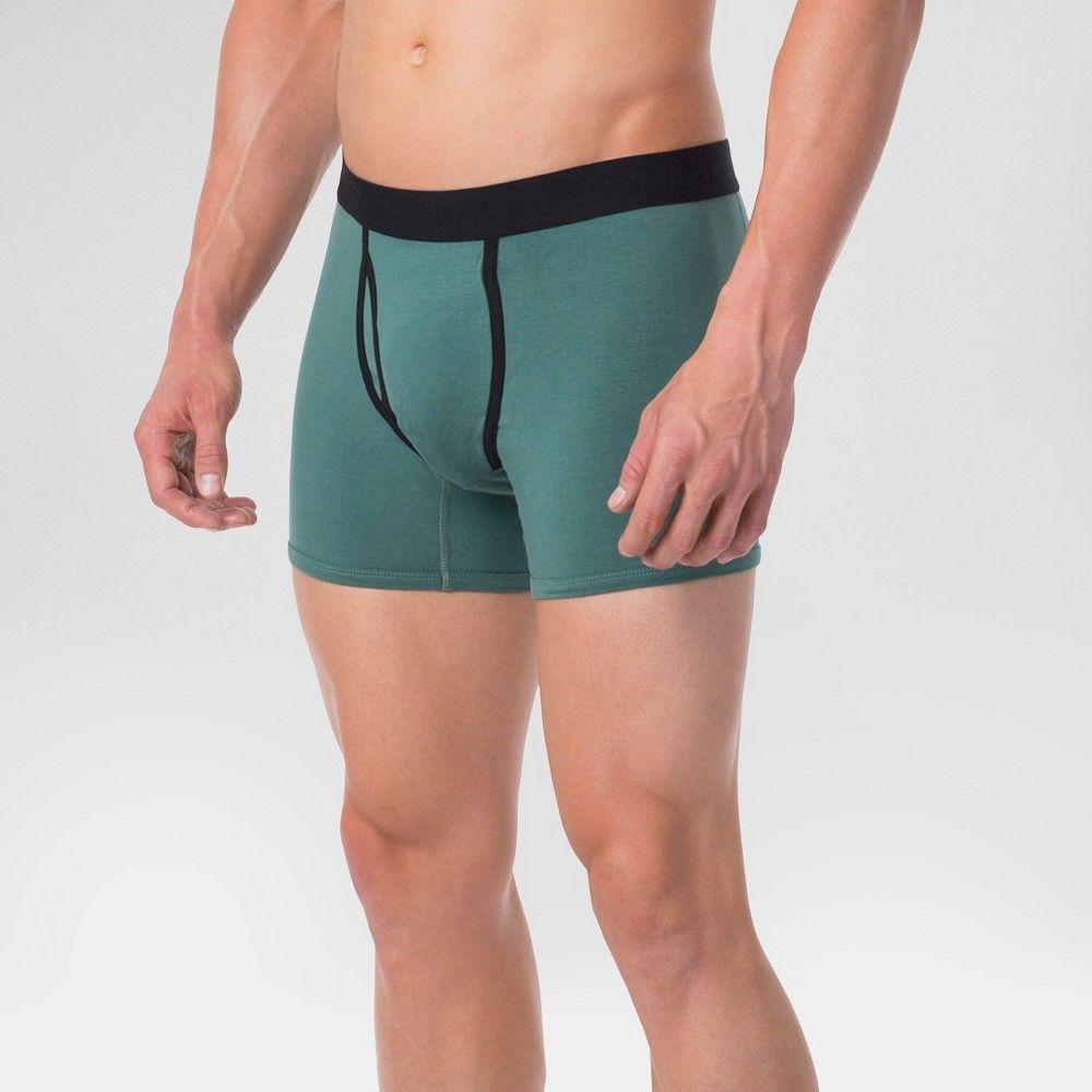 ac61c90f0075 Pact Organic Super Soft Cotton Men's Boxer Brief S - Pine, Green ...