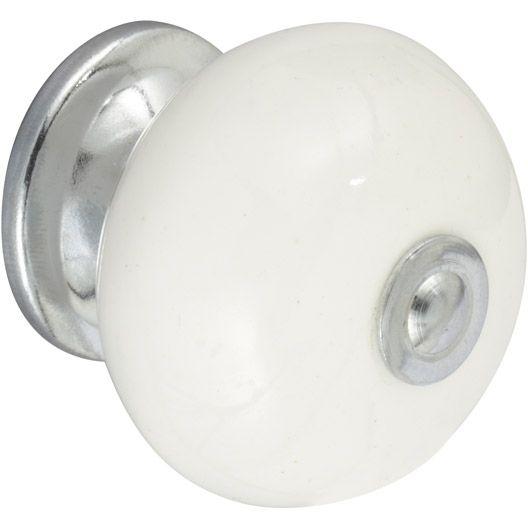 Bouton De Meuble En Porcelaine Brillant Bouton De Meuble Porcelaine Blanche Poignee Meuble