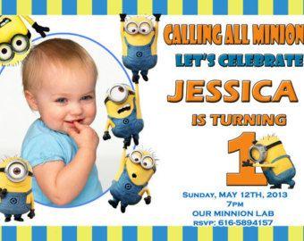 Despicable Me 2 Minions Birthday Invitations Paw Patrol Bday