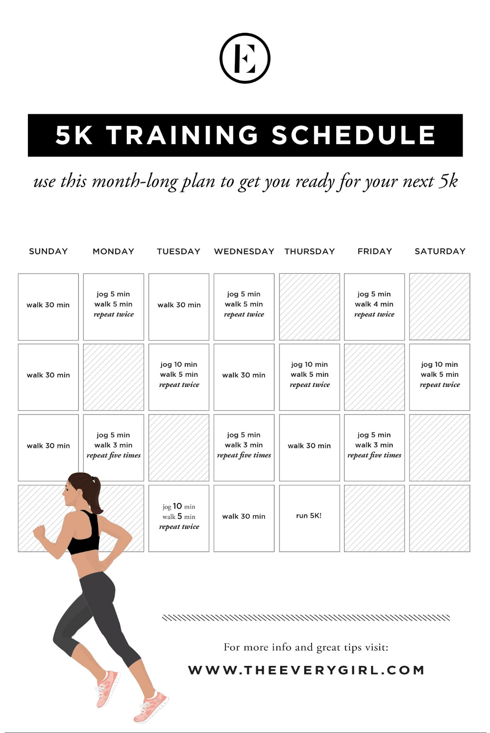 Your Ultimate 5k Training Plan and Tips from An Expert - The Everygirl