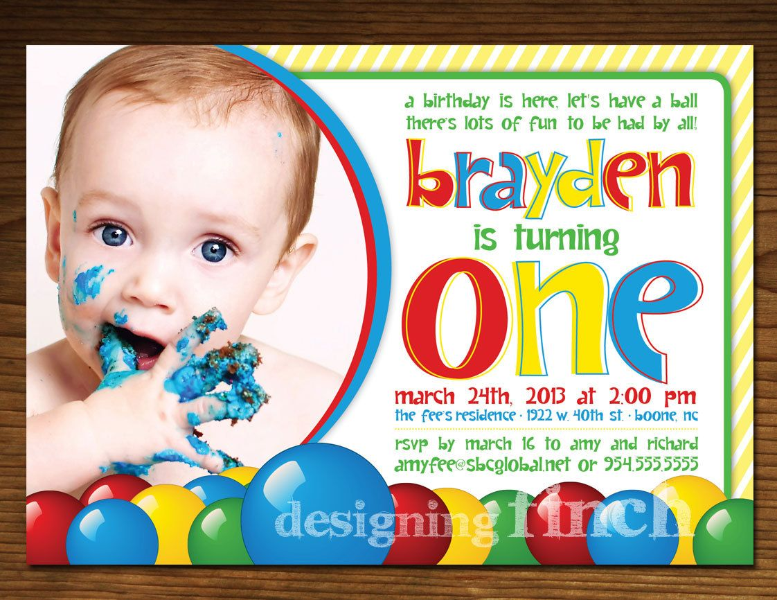Ball Pit Birthday Invitation, Printable, Customized #46 | Ball pits ...