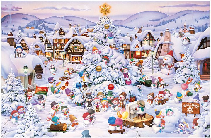 Christmas Choir 1,000-Piece Puzzle #ChristmasPuzzle Christmas gift