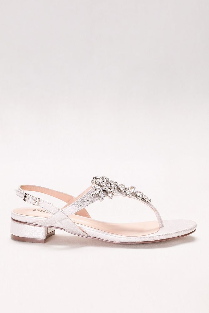 022542b61 Flame Glitter Thong Sandals with Low Block Heel Style P1709