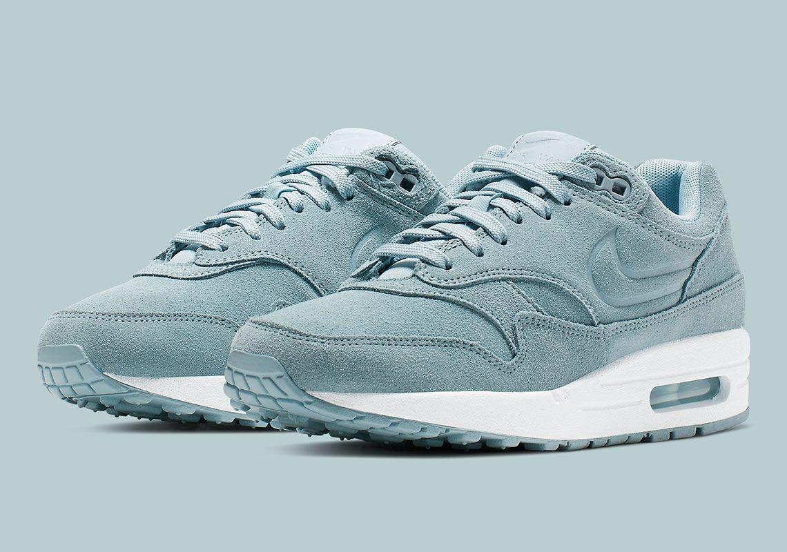 f5b9fae00f94 Nikes Debossed Swoosh On The Air Max 1 Premium Returns In Turquoise ...