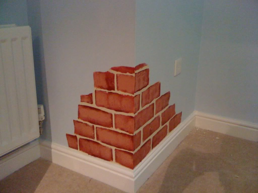 Paint That Looks Like Wallpaper painting subfloor to look like brick | how to paint a wall to look