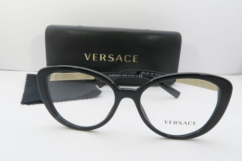 424e7fb93f13a Versace Women s Black Glasses with case MOD 3229 GB1 52mm