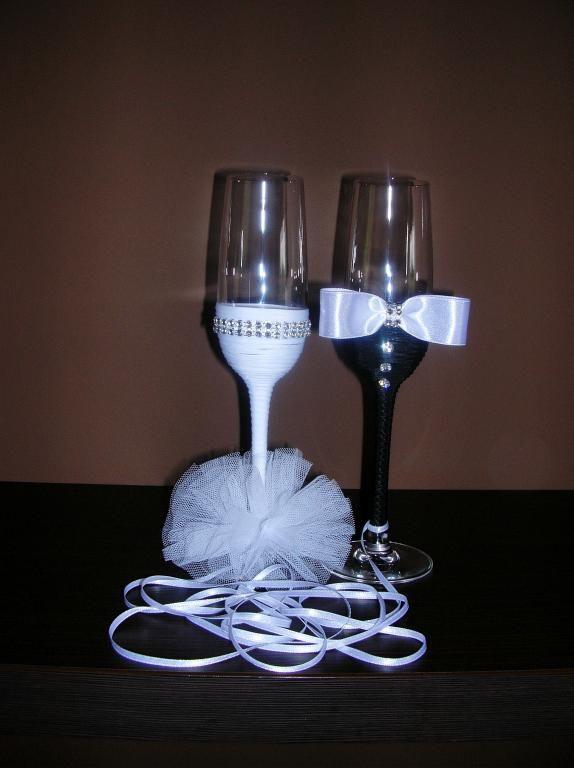 Kieliszki Slubne Do Szampana Slub Slubne Blog 3774237769 Oficjalne Archiwum Allegro Wedding Glasses Glassware Champagne Flute
