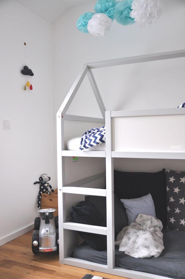 ikea hack hausbett zum 6 bloggeburtstag in 2018 bauanleitung pinterest kinderzimmer. Black Bedroom Furniture Sets. Home Design Ideas