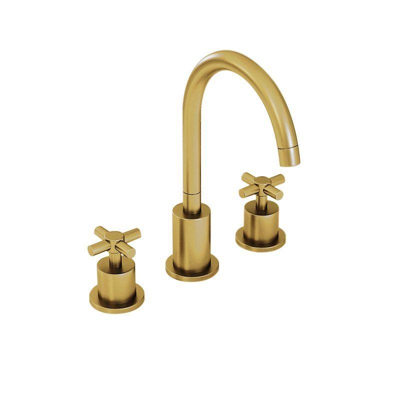 Ancona Prima 3 Widespread Bathroom Faucet Wayfair Widespread Bathroom Faucet Bathroom Faucets Gold Bathroom Faucet