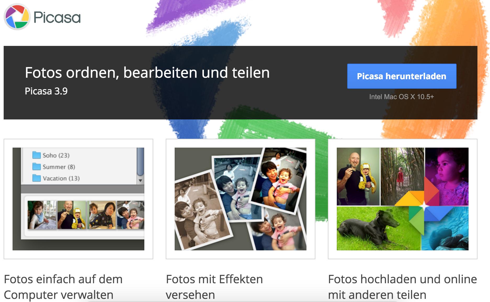 Als Alternative wird Googles Photo-App vorgeschlagen