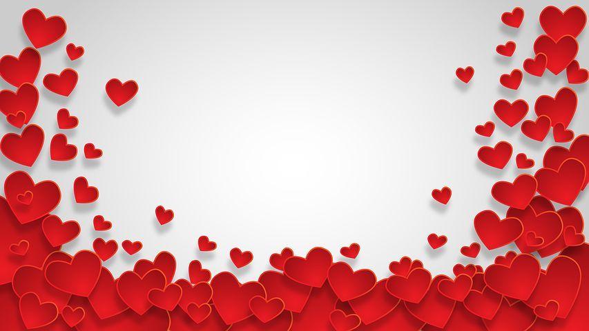 Jantung Bentuk Latar Belakang Cinta Heart Wallpaper Valentine Valentines