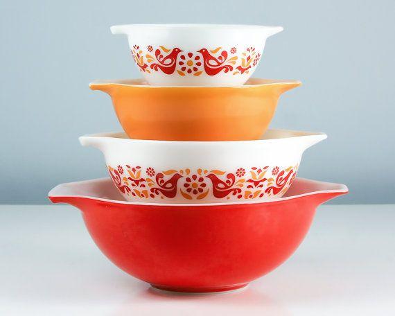 Pyrex Friendship Cinderella Bowls Pyrex Nesting by Retroburgh ...
