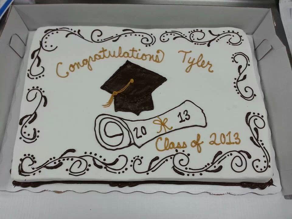 Elegant Graduation Cake For A Boy Or Girl High School Graduation