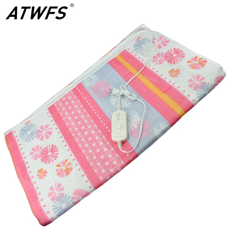 Atwfs 150 120cm Electric Blanket Electric Heated Blanket Double Bed Electric Carpet Body Warmer Heating Pad Warmer Thermostatic