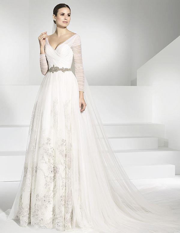 Vestidos de novia con tul bordado