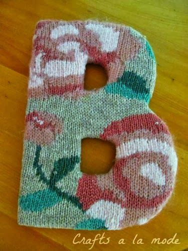 Cover a Wooden Letter With a Sweater