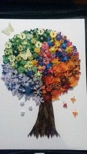 4 Seasons Quilling Tree Quilling Quilling Craft