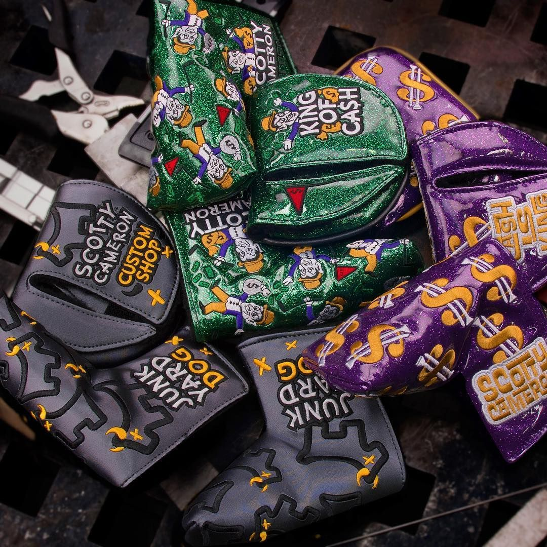 New Cash is King, Junk Yard Dog, and King of Cash headcovers