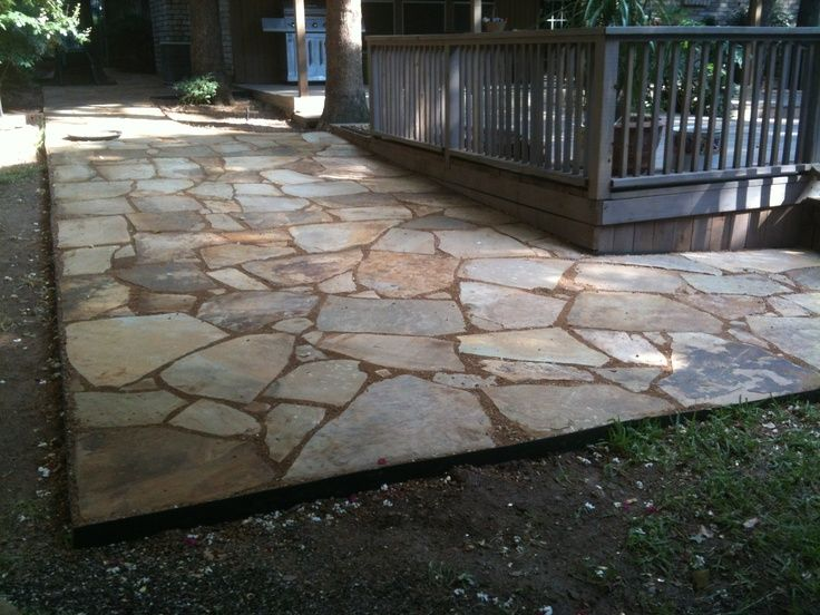 wood trimmed crushed stone patio google search - Crushed Stone Patio