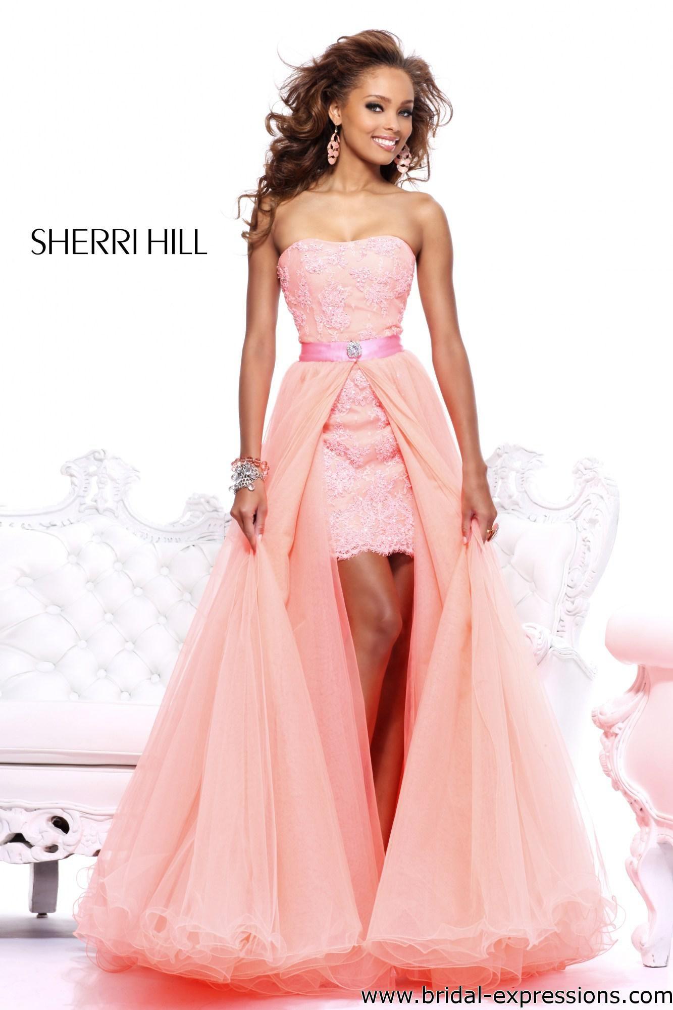 Cute short wedding dresses  removable wedding skirt for a short dress  Sherri Hill