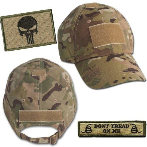 Black Friday Operator Cap Bundle - w USA Dont Tread Patches (Multicam Cap)  from Gadsden and Culpeper. Multicam Hat 597f38256292