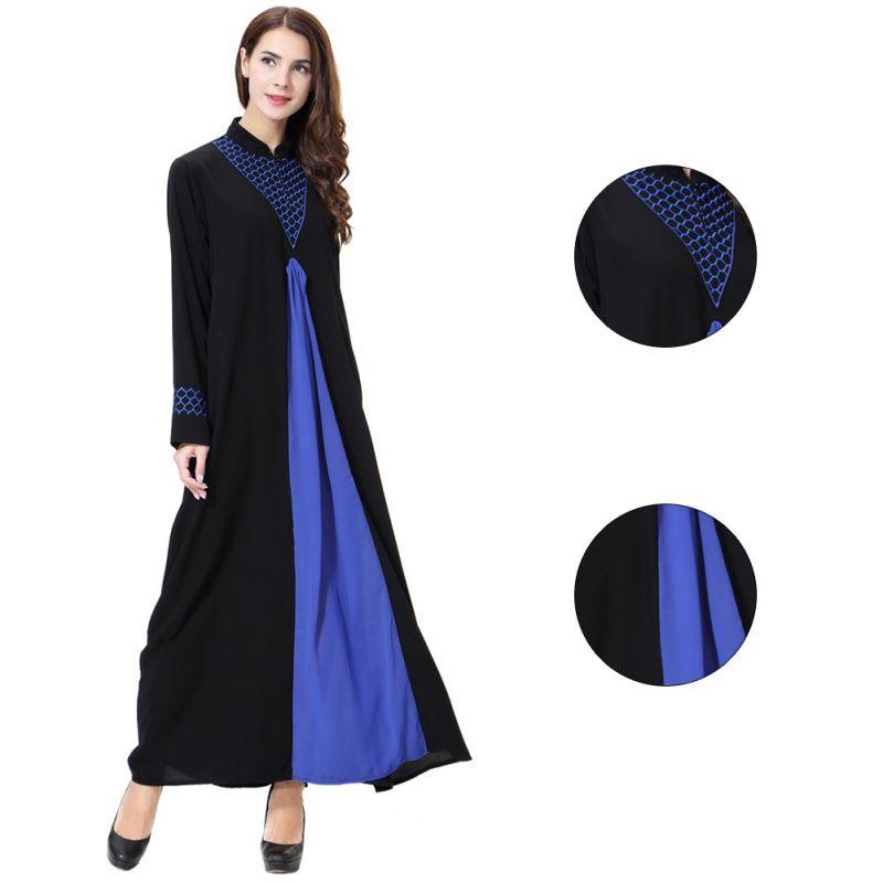 1002526cbb Muslim Dress Long Sleeve Abaya Islamic Dresses Robe Kimono Turkey ...