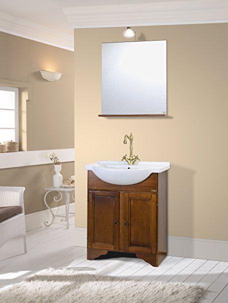Mobile da bagno classico in legno con lavabo arte povera: Amazon.it ...