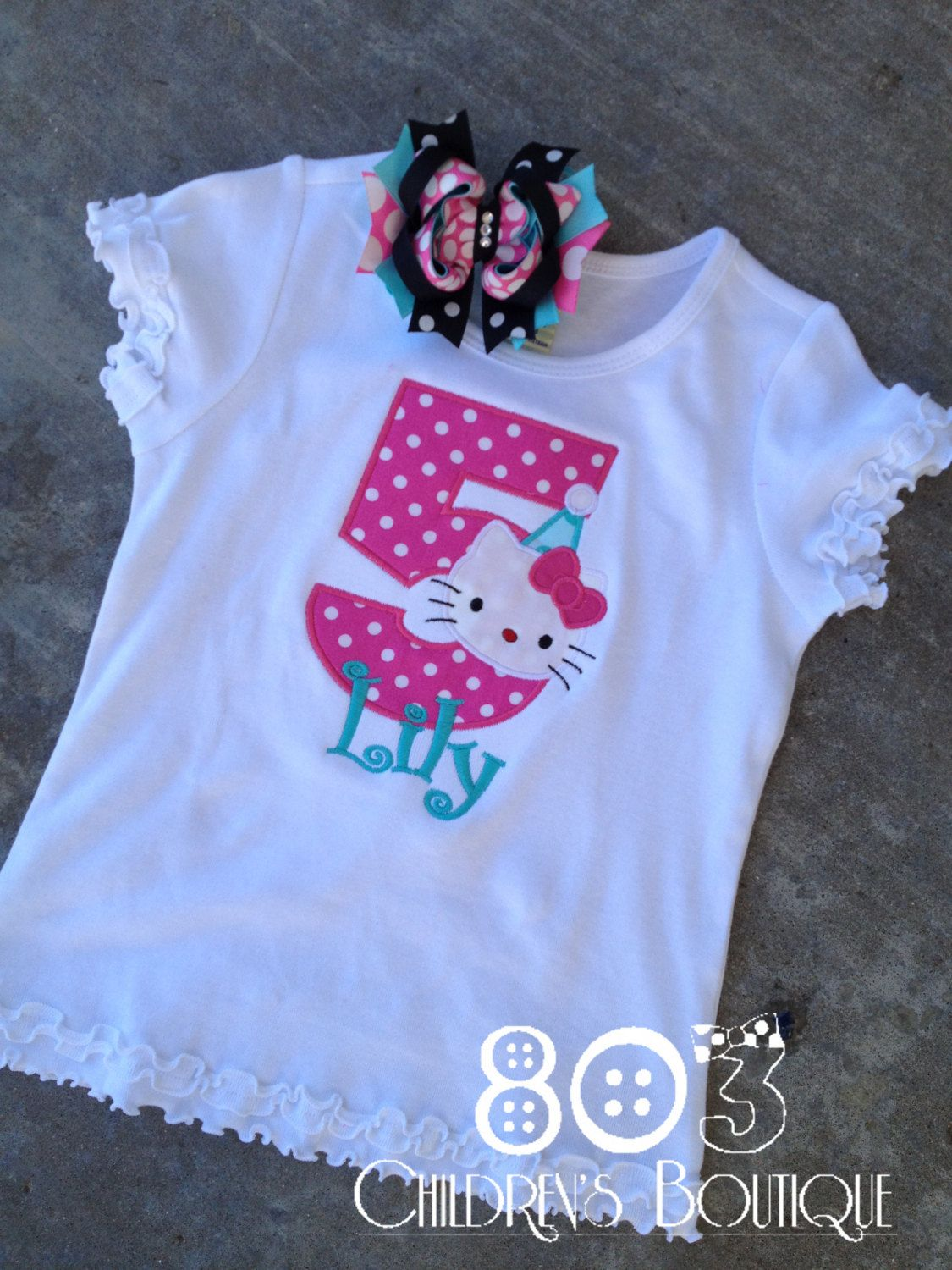 Custom Hello Kitty Birthday Shirt By 803childrensboutique On Etsy 2200 Cant Wait To Get It Ordered Evelynns Thats Similar This