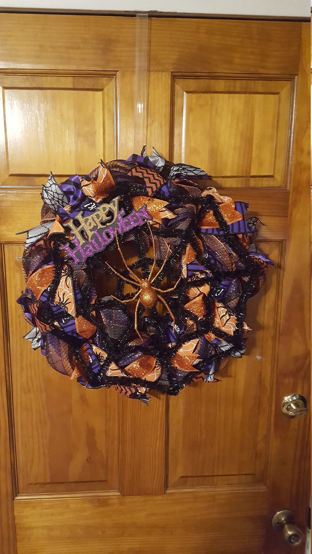 Halloween wreath spider wreath spider wreath spider
