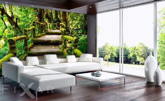Grüne Treppe Fototapete fürs Wohnzimmer Pinterest - fototapete wohnzimmer grun